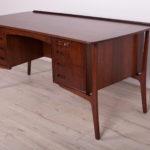 Mid Century Rosewood Desk by Svend Åge Madsen for H.P. Hansen, 1960s