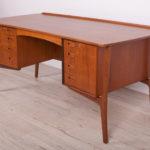 Mid Century Teak Desk by Svend Åge Madsen for H.P. Hansen, 1960s