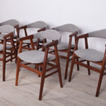Komplet sześciu foteli, Dania, lata 60.