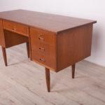 Mid Century Freestanding Teak Desk, 1960s
