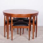 Mid-Century Teak Dining Table & 4 Chairs Set by Hans Olsen for Frem Røjle, 1950s