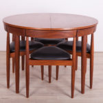 Mid Century Teak Dining Table & 4 Chairs by Hans Olsen for Frem Røjle, 1950s
