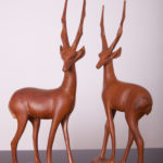 A pair of Antelope Figurines, Great Britain, 1960s, Set of 2