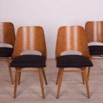 Komplet czterech krzeseł, Tatra Nabytok, Czechosłowacja, lata 60.