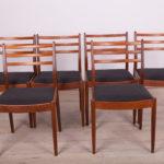 Komplet sześciu krzeseł, proj. V. Wilkins, G-Plan, Wielka Brytania, lata 60.