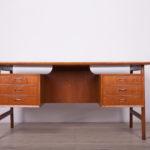 Mid-Century Freestanding Teak Desk by Arne Vodder, 1960s