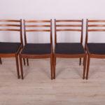 Komplet czterech krzeseł, proj. V. Wilkins, G-Plan, Wielka Brytania, lata 60