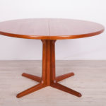 Mid Century Teak Round Dining Table from Gudme Mobelfabrik, 1960s