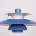 Lampa wisząca PH5, proj. P. Henningsen, Louis Poulsen, Dania, lata 60