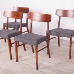 Komplet czterech krzeseł, Dania, lata 60.