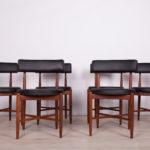 Komplet sześciu krzeseł, proj. I. Kofod-Larsen, G-Plan, Wielka Brytania, lata 60.