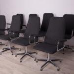 Komplet ośmiu foteli konferencyjnych, Johanson Design, Szwecja, lata 90.