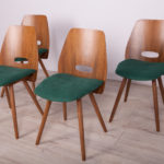 Vintage Czechoslovakian Lollipop Chairs by F. Jirak for Tatra, 1960s, Set of 4