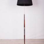 Palisandrowa lampa podłogowa, Dania, lata 60.