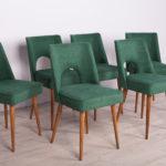 Komplet sześciu krzeseł Muszelka, Bydgoska Fabryka Mebli, Polska, lata 60.