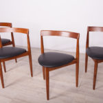 Komplet czterech krzeseł, proj. H. Olsen, Frem Røjle, Dania, lata 50.
