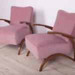 Para foteli, proj. J. Halabala, Thonet, Czechosłowacja, lata 30.
