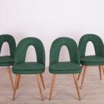 Komplet czterech krzeseł, proj. A. Šuman, Tatra, Czechosłowacja, lata 60.