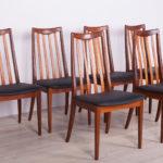 Komplet sześciu krzeseł, proj. L. Dandy, G-Plan, Wielka Brytania, lata 60.