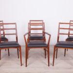 Komplet sześciu krzeseł, Wielka Brytania, lata 60.