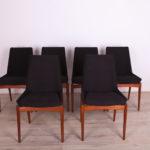 Komplet sześciu krzeseł Hamilton, proj. R. Heritage, Archie Shine, Wielka Brytania, lata 60.