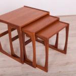 Teak Nesting Tables by V. Wilkins for G-Plan, 1960s, Set of 3