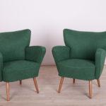 Mid-Century Club Armchairs, 1950s, Set of 2