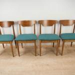 Vintage  Teak Dining Chairs , 1960s, Set of 4