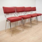 Italian Chrome Dinning Chairs, 1950s, Set of 4