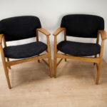 Mid-Century Armchairs by A. B. Madsen & E. Larsen, Set of 2