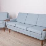 Komplet sofa i fotel, Dania, lata 60.