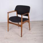 Fotel Model 4205, proj. A. B. Madsen, E. Larsen, Fritz Hansen, Dania, lata 50.