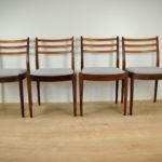Komplet czterech krzeseł, proj. V. Wilkins, G- Plan, Wielka Brytania, lata 60
